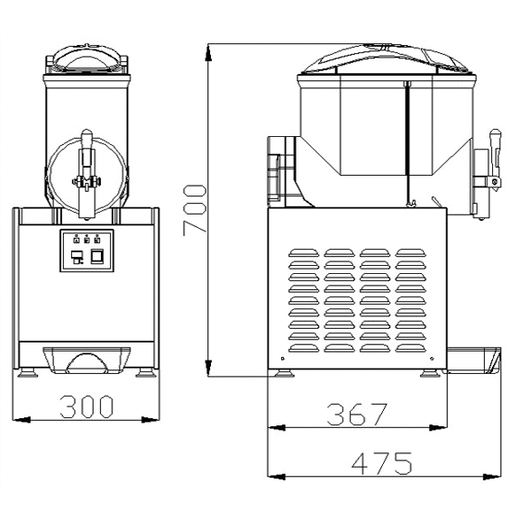 ChromeCater Slush Puppie Machine For Sale SC-1