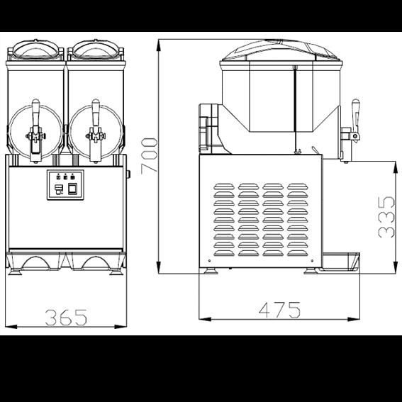 ChromeCater Slush Machine For Sale SC-2