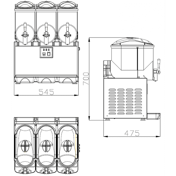 ChromeCater Slush Machine For Sale SC-3